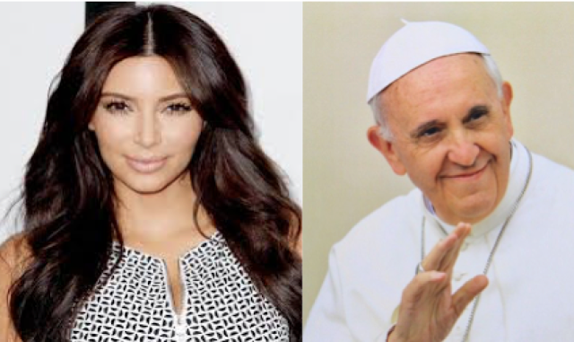 Kim Kardashian and Pope Francis
