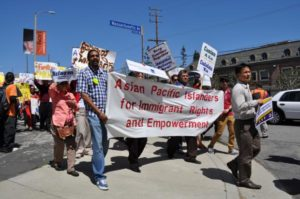 Immigrant Rights protest by AAPIs