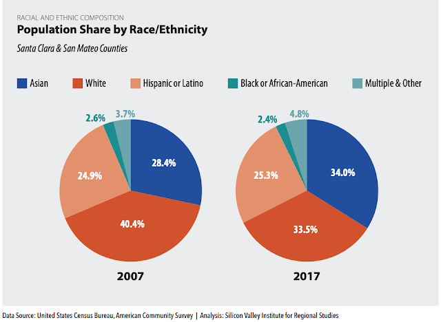 Silicon Valley ethnicity population chart