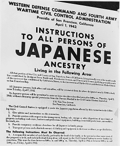 Incarceration orders to Japanese Americans
