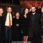 Gretchen Cryer (center) with Nancy Ford, her son Jon Cryer, her granddaughter granddaughter Hallie Steiner, Hallie's fiancé Sammy Langford and Barbara Hogenson attend the Dramatists Guild Fund's Gala: 'Great Writers Thank Their Lucky Stars' at Gotham Hall on October 26, 2015 in New York City. Photo by Lia Chang