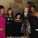 Rashidra Scott, Alysha Umphress, Ann Harada, Felicia Finley and Kirsten Childs attend the Dramatists Guild Fund's Gala: 'Great Writers Thank Their Lucky Stars' at Gotham Hall on October 26, 2015 in New York City. Photo by Lia Chang