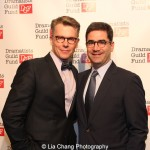 Robert Cary and Jonathan Tolins attend the Dramatists Guild Fund's Gala: 'Great Writers Thank Their Lucky Stars' at Gotham Hall on October 26, 2015 in New York City. Photo by Lia Chang