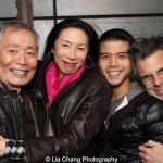 George Takei, Jodi Long, Lea Salonga and Marc Acito. Photo by Lia Chang