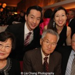 Michael K. Lee with his wife Kim Varhola and their parents. Photo by Lia Chang
