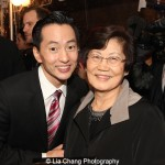 Michael K. Lee with his mom. Photo by Lia Chang