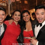 Sam Tanabe, Lea Salonga, Liz Casasola, Guest. Photo by Lia Chang