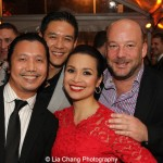 Victor Lirio, Robert Chien with his wife Lea Salonga and Bryce Goodwin. Photo by Lia Chang