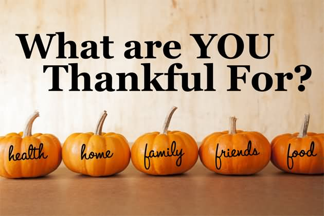What Are You Thankful For This Thanksgiving Holiday?
