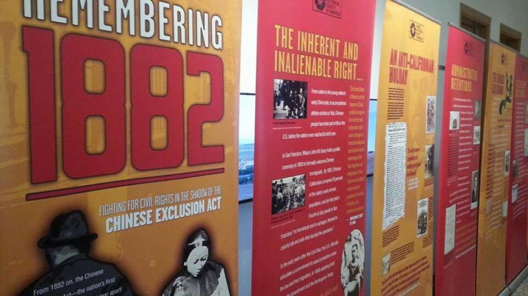 Chinese Exclusion Act Exhibit Makes Brief Appearance in Manhattan's Chinatown