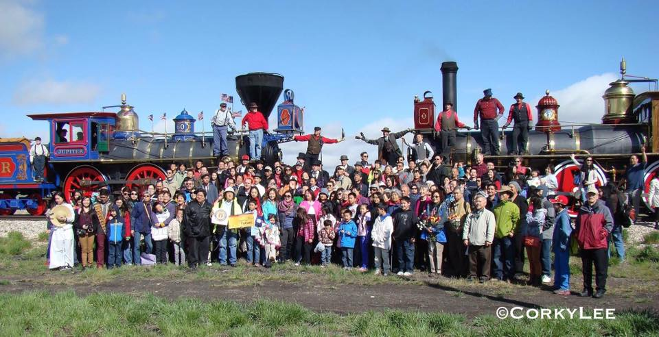 Transcontinental Railroad Golden Spike Recreation