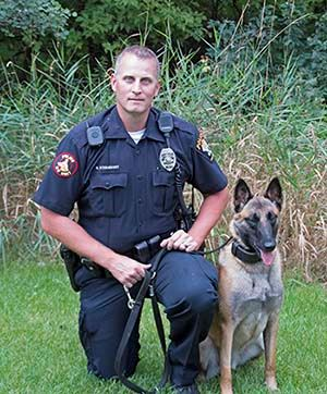 Officer Brian Sternquist and Belgian Malinois Taz