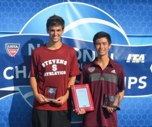 Photo: Nick Chua (R), 2014 USTA/ITA Champion with runner-up Matt Heinrich