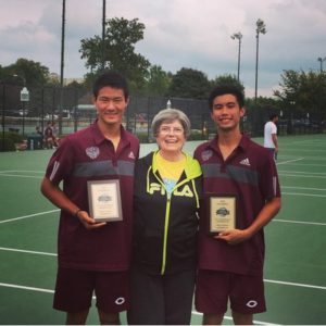 David Liu and Nick Chua after capturing ITA Central Region doubles title