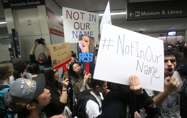 Muslim ban protest at SFO