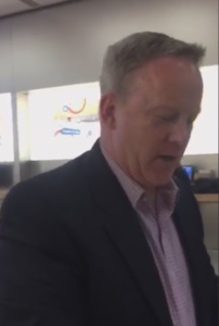 Sean Spicer confronted by Indian American