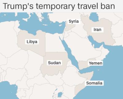 Travel Ban map