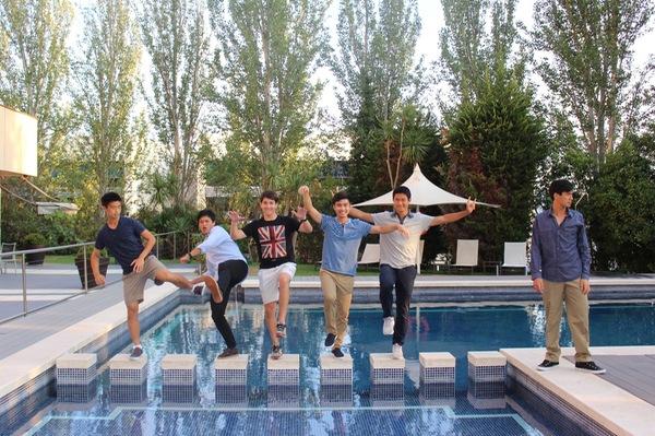 Luke Tsai, Max Liu, Nick Hamburger, Nick Chua, David Liu, Peter Leung in Barcelona