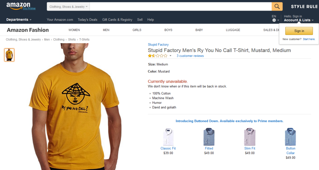 Amazon Stupid Shirt