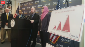 CAIR documents hate crime in 2016