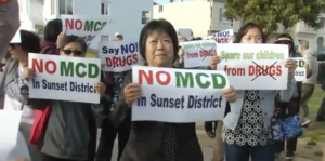 Former Mayor Jean Quan Marijuana Dispensary plan attracts protestors