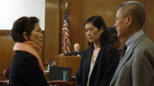 Jill, Vera and Thomas Sung in court