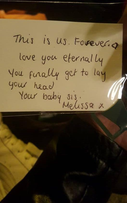 Melissa McMullen note to her brother