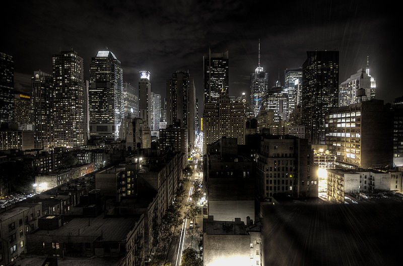 New York City night skyline