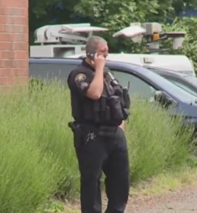 Police at Portland Middle School