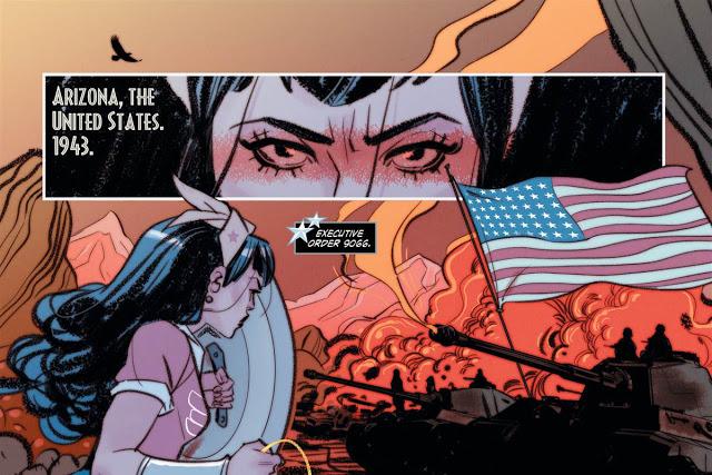 DC Comics: Wonder Woman battles Japanese internment of WWII