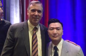 Adam Crasper with Sen Jeff Markley