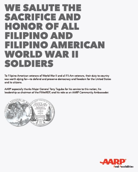 Filipino American Congressional Gold Medal and AARP