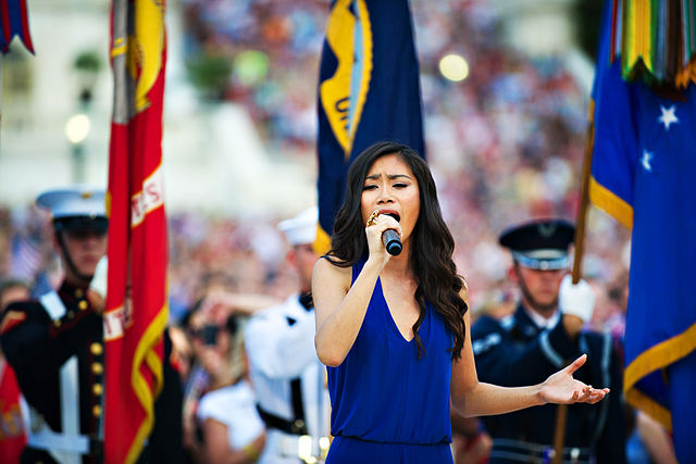 Sanchez, jessica sings at Memorial Day Concert 2012