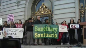 Sanctuary City Protest in San Francisco