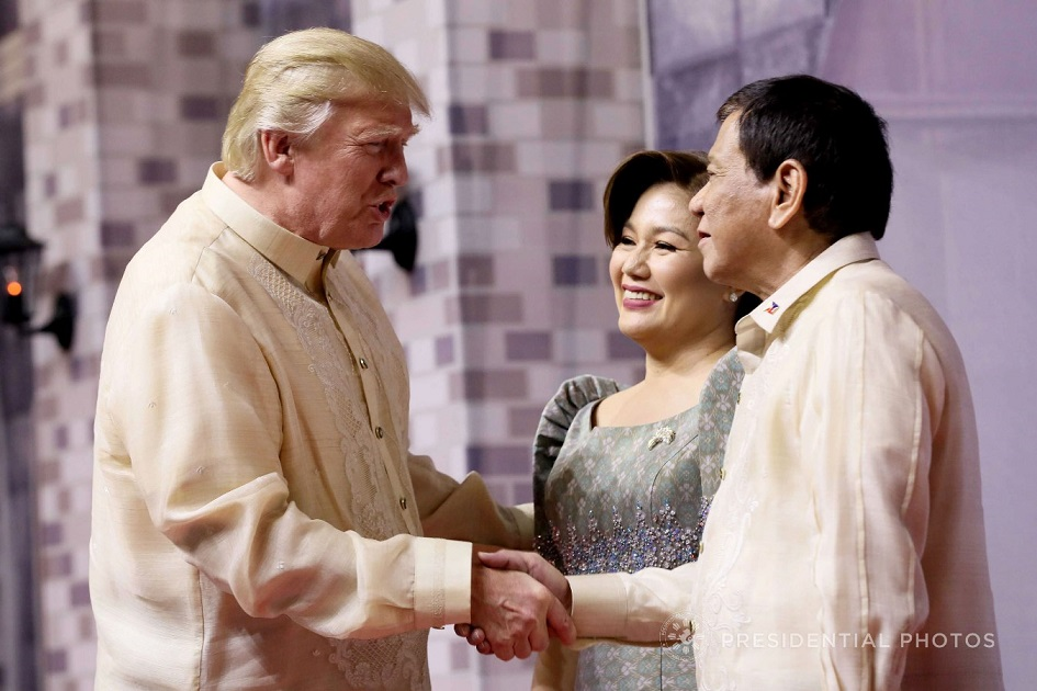 Donald Trump Greets Philippine President Rodrigo Duterte