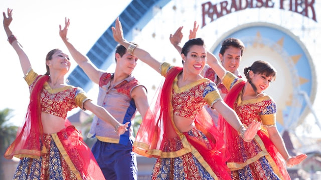 The Blue 13 Dance Company is dancing at Disney's Festival of Holidays.