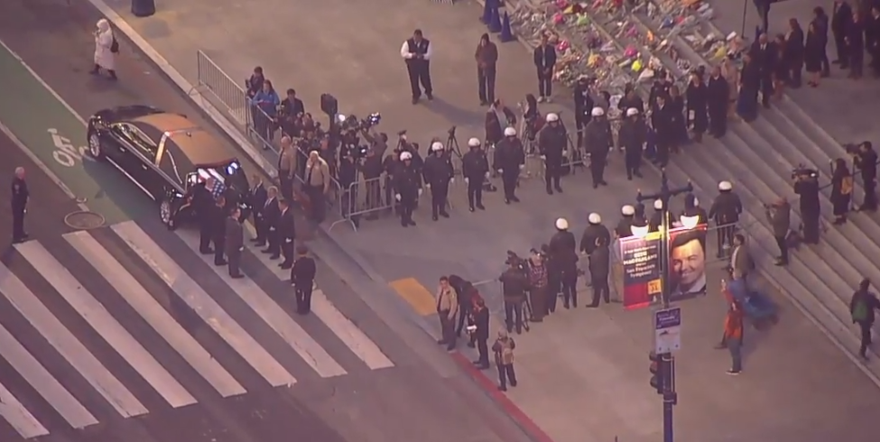 Ed Lee Casket Procession