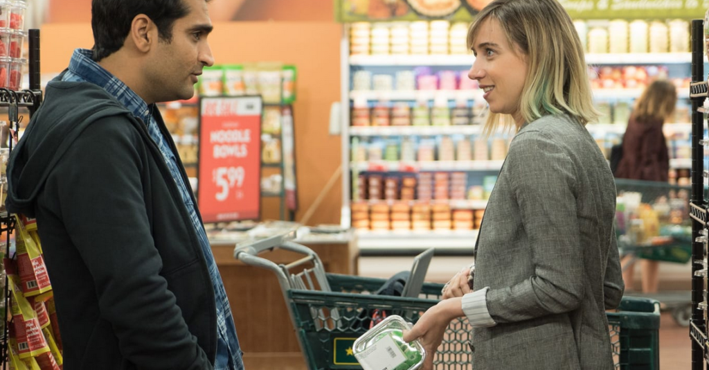 Kumail Nanjiani and Zoe Kazan star in The Big Sick. Photo: Lionsgate/Amazon Studios