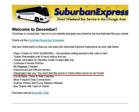Suburban Express Ad