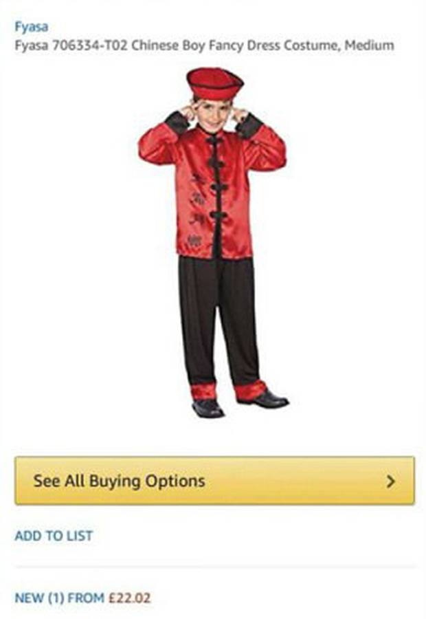 Amazon Chinese Costume  sc 1 st  AsAm News & AsAm News | Ad for Slant-eyed Costume Pulled by Amazon. China Boy ...