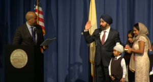 Ravinder Bhalla Sworn in