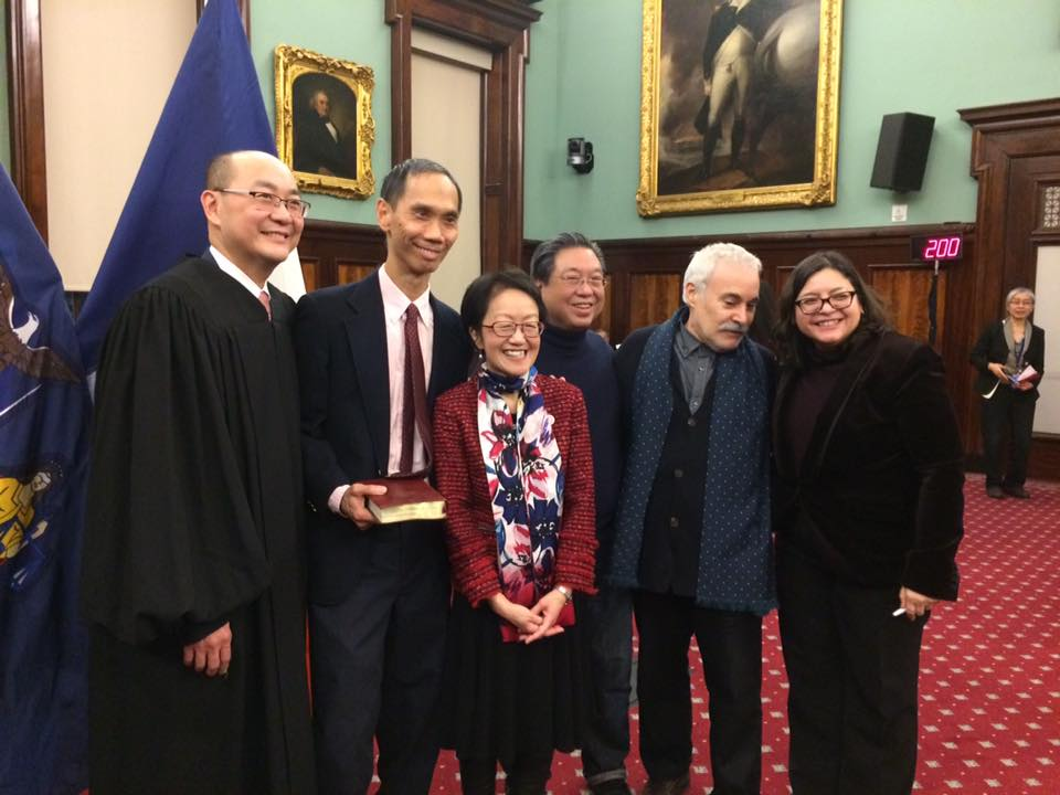 Margaret Chin is Sworn in at City Hall