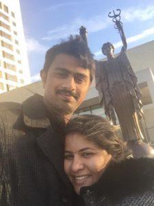 Sunayana Dumala with her late husband Srinivas Kuchibhotia,