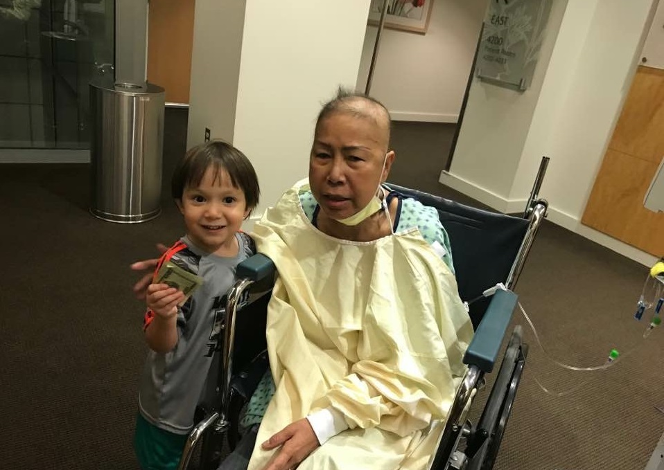 Helen Huynh with grandson