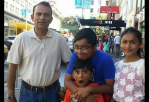Jamal Syed Ahmed with his family