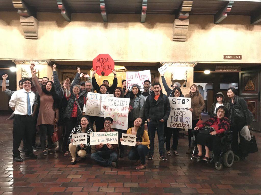 San Gabriel ICE agreement protest