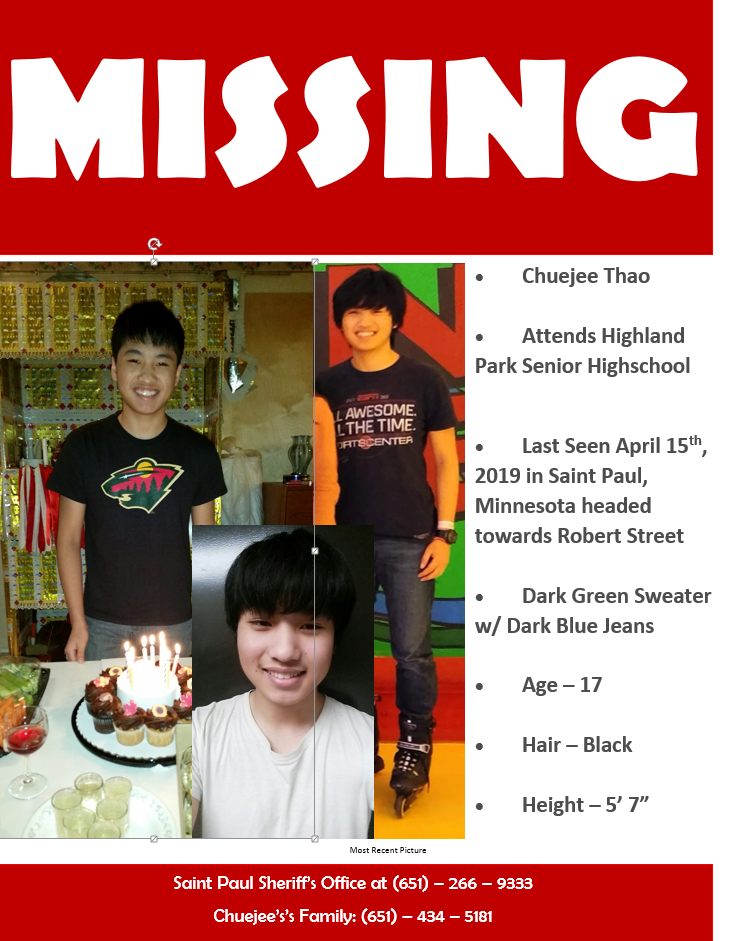 AsAm News   17-year-old teen missing in St  Paul