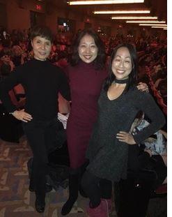 Rockettes Setsuko Maruhashi, Lainie Sakakura and Sally Hong at Radio City Music Hall in 2017
