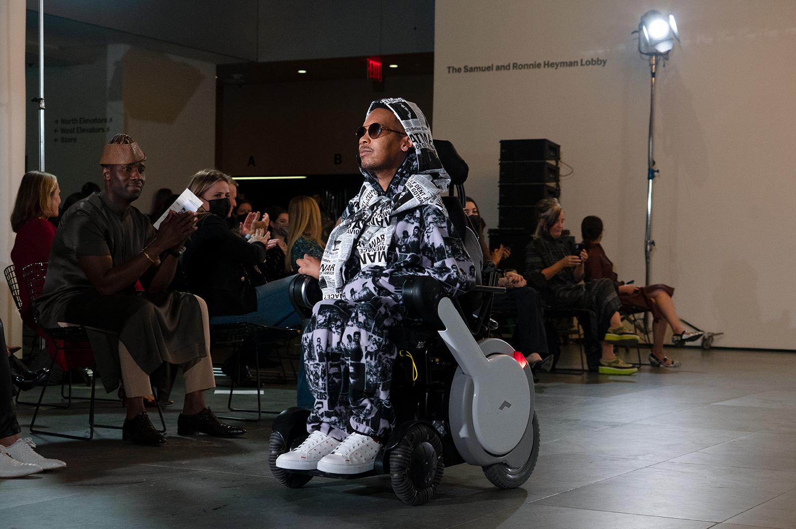 Eddie Ndopu runway show at NYFW